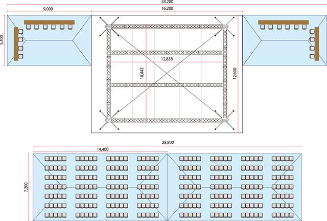 トラスステージ会場設置例